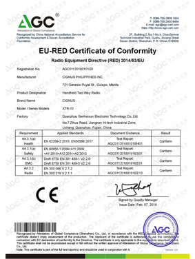 eu-red certificate of conformity